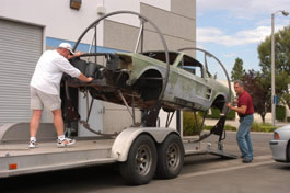 Loading Mustang on Trailer